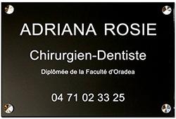Plaque chirurgien dentiste en plexiglass noir