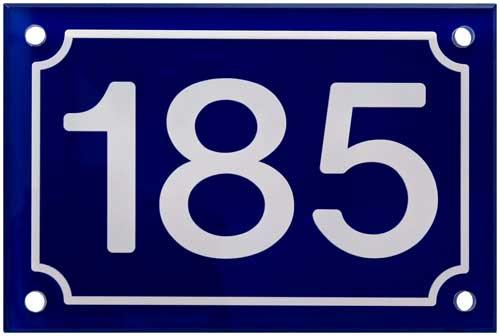 Plaque numéro boite aux lettres couleur bleue