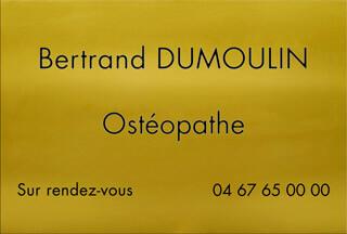 Plaque pro ostéopathe en aluminium or
