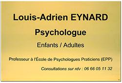 Plaque professionnelle laiton pour psychologue
