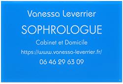 Plaque professionnel en plexiglas bleu pour sophrologue
