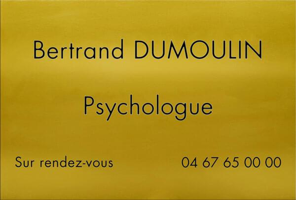 Plaques professionnelles psychologue en aluminium