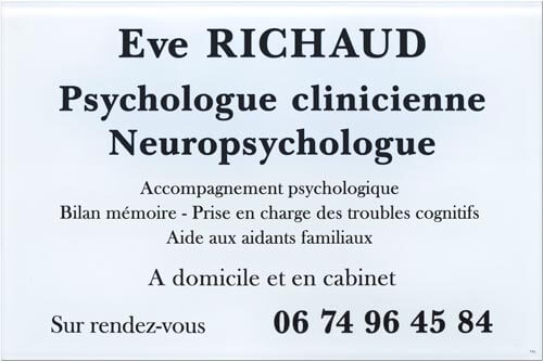 Plaque psychologue clinicienne en plexiglas blanc