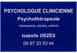 Photo de plaque professionnelle psychologue en plexiglas bleu