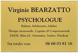 Photo de plaque psychologue en plexiglass or