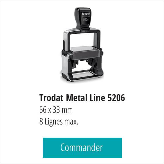 Tampon pharmacie Trodat Pro 5206 - 8 lignes