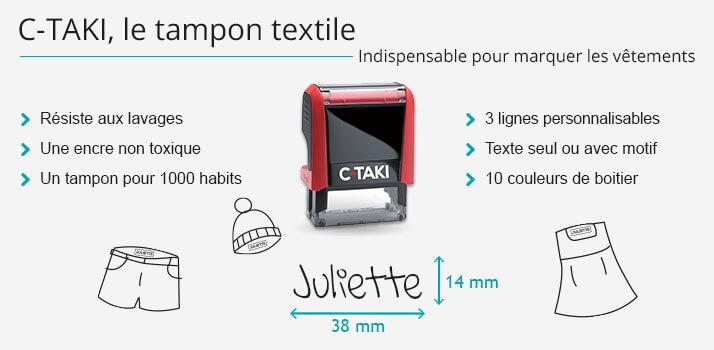 C-TAKI le tampon textile indispensable pour marquer les vêtements